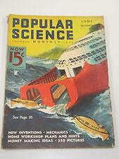 Popular Science Magazine- New Inventions, Money Making Ideas- June 1935
