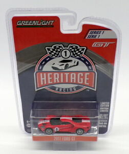 Greenlight 1/64 Scale Model Racing Car 13200-D - 2017 Ford GT - Red #1