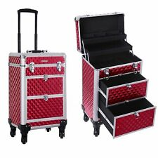 SONGMICS Suitcase For Makeup Briefcase JHZ08RD.Trolley Wheels Multi-Directional