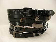 Maison Martin Margiela Paris Multi-Buckle Black Leather Belt NWOT - Sold Out