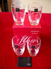 4x WATERFORD FLOW 2 CIRCA WHISKEY TUMBLERS GLASSES JOHN ROCHA BRAND NEW BOXED