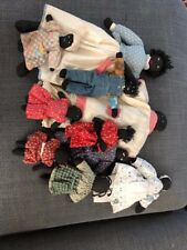 """Lot of 9 Antique cloth African-American dolls from 3 """" to 10"""" authentic primitiv"""
