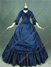 Victorian Queen Bustle Masquerade Ball Gown Dress Christams Holiday Party 330 M