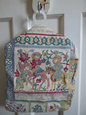 Hand Made Cotton Lined Egyptian Emperor Panel Peg Bag With Hanger Shabby Chiq