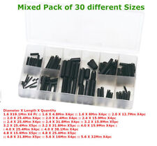 120Pc Assorted Roll Pin Set Tension  C Pins Spring Sellock In Assort. Box