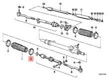 GenuineBMW BMW E21 E30 E36 E39 Z8 Set of 4 Clamps for Steering Rack Boot