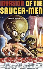 Invasion de la soucoupe Hommes B Movie Poster A3 réimpression