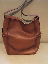 Frye Women's Leather Side Pocket Hobo Shoulder Bag - Cognac