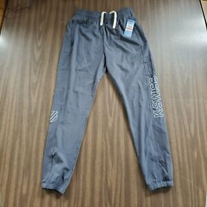 Performance Running /& Workout Bottoms K-Swiss Mens Relaxed Fit Track Pants