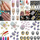 10 3D Nail Art Tips Decoration Multicolor Alloy Glitter Rhinestone Charm Jewelry