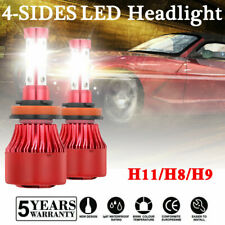 4-Sides H11 H8 H9 LED Headlight Kits 2000W 300000LM High Power 6000K White Bulbs