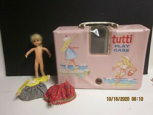 Vintage Barbie Blonde TUTTI  Play CASE - DOLL - CLOTHES - SHOES - HAT Lot