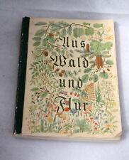 """Sammelbilderalbum """"Aus Wald und Flur""""  Cardbook Nature"""