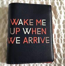 Fossil Sofia Passport Case- midnight navy orange  -Wake me up when we arrive