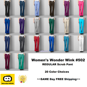 Wonder Wink Wonder Work Women's REGULAR Scrub Pants 502 ~FREE SAME DAY SHIPPING~