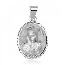 Sterling Silver .925 High Polished Mother Mary DC Charm Pendant 3.5 grams