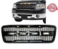 For 2004 2008 Ford F-150 F150 SVT Raptor Style Conversion Front Grille With LED