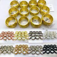 Napkin Rings Set of 12 Elegance Twisted Orbit Bronze Silver Gold Rose Kemp Excel