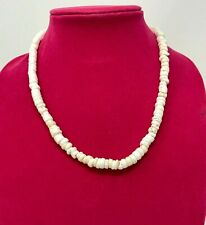 Genuine Natural White Medium Puka Shell Necklace From Hawaii 20""