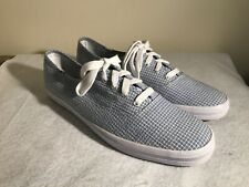 705d89abe64 New Keds Champion Oxford Canvas Sneakers Tennis Shoes Blue White Check Women  9.5