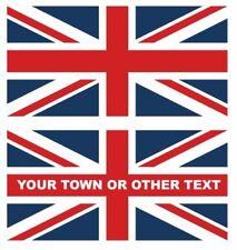 "LARGE FULL COLOUR UNION JACK FLAG UK 300mm x 150mm 12"" x 6"" DECAL STICKER"