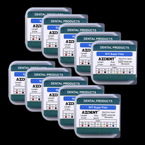 10Box Endodontics Files NiTi SX-F3 21MM Dental Super Rotary Machine Taper Engine