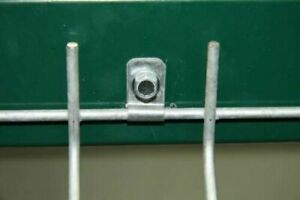 100 metal mesh panel clips with screw wire fencing