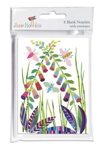 Pack of 8 Foxgloves Notelet Cards with White Envelope