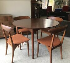 Set Of 4 Mid Century 60s Kurt Ostervig Dining Chairs And Walnut Dining Table