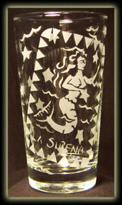 Loteria Mexican Art Mermaid Sirena Hiball Juice Glass