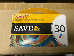 Kodak 30 Tri-Color Ink Cartridge Up To 275 Pages Genuine New Sealed Free S&H