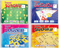 1 x TRAVEL SUDOKU BOOK SPIRAL BOUND 170 PUZZLES IN EACH ACTIVITY BOOK 3100