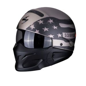 Scorpion EXO-Combat Rookie Titanium-Gray Jet Convertible Motorcycle Helmet