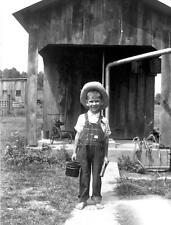 Photo. 1940s. Bollinger, Missouri. Boy's First Day of School