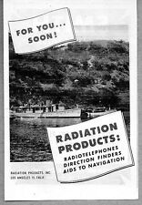 1945 Ad Radiation Products RadioTelephones,Direction Finder Boat Los Angeles,CA