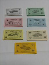 Monopoly 2003 mustang 40th anniversary replacement stack of play money