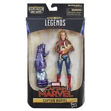 """Marvel Legends Captain Marvel 6"""" Avengers Action Figure + Thanos BAF - Endgame"""