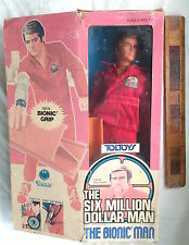 VINTAGE TOLTOYS SIX MILLION DOLLAR MAN SMDM ACTION FIGURE KENNER BOXED COMPLETE!