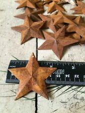 """(150) 2.25 in 2 1/4"""" 57mm Dimensional Rusty Barn Stars Metal Rust Country Craft"""