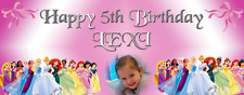 Personalised Birthday Party Banner Decorations Disney Princess Girls