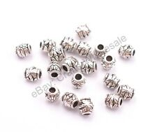 20/50/100Pcs Antique Tibetan Silver Flower Oval Spacer Beads  2mm Hole CA3022