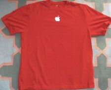 New APPLE Mac MacIntosh computer MacBook I Phone embroidered logo red shirt