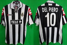 2000-2001 Juventus Juve Jersey Shirt Maglia Home Tele+ Lotto Del Piero #10 L NWT