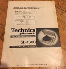 Technics SL-1300 Original Operating Instruction