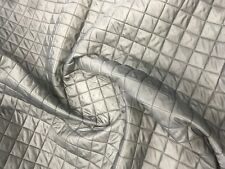QUILTED FABRIC VISCOSE GREY Lining Box design Dress Upholstery Acetate 150CM