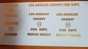 Tonka custom L.A. fire rescue squad 51