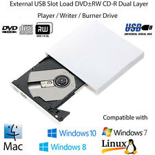 Slim External USB 2.0 Portable DVD-RW CD-RW DVD-ROM Burner Drive For Laptop PC