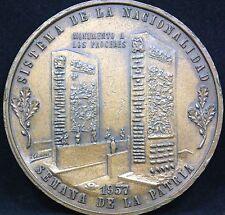 VENEZUELA SISTEMA DE LA NACIONALIDAD SEMANA DE LA PATRIA 1957 MEDAL.