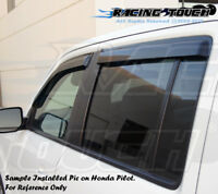 JDM Vent Window Visor 4pc Wind Deflector Buick Rendezvous 02 03 04-07 2002-2007