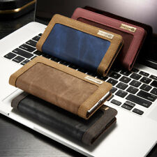 Sony Xperia X Jeans Etui Tasche Neu Flip Case Cover Hülle Braun Schwarz Rot Blau